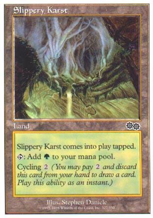 scivoloso Karst COMMANDER Magic 2014 4x Slippery Karst