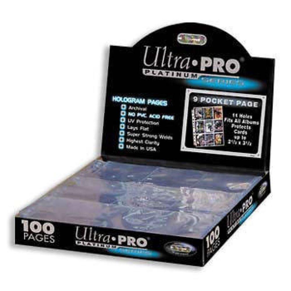 100 Fogli 9 Tasche per Raccoglitore ad Anelli Ultra Pro SILVER